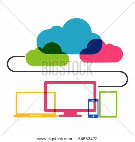 Abstract design of cloud computing technology concept.