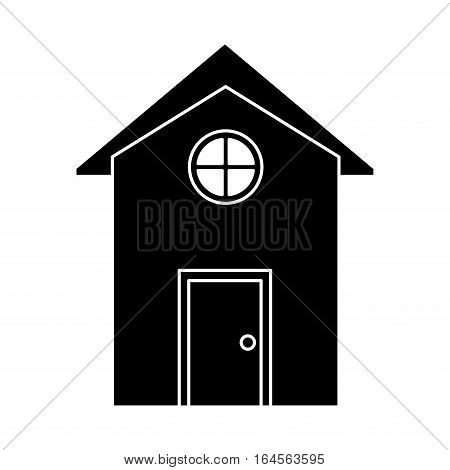 silhouette house building town residence vector illustration eps 10