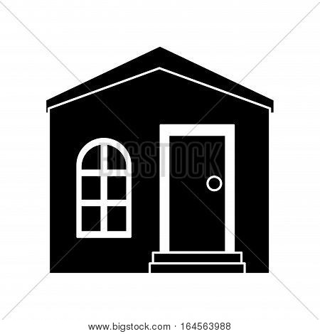 silhouette house private residence structure vector illustration eps 10