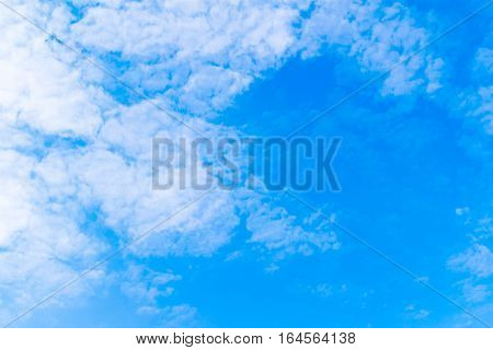 Beautiful Of Blue Sky With Cloud