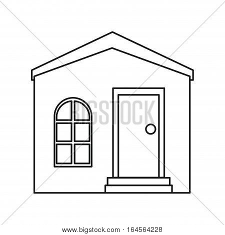 house private residence structure outline vector illustration eps 10
