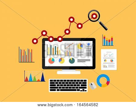 Business growth analytic. Business background concept illustration