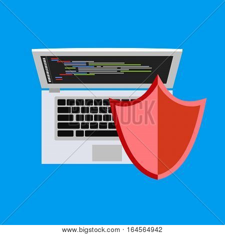 Personal computer security. Security concept. Antivirus concept