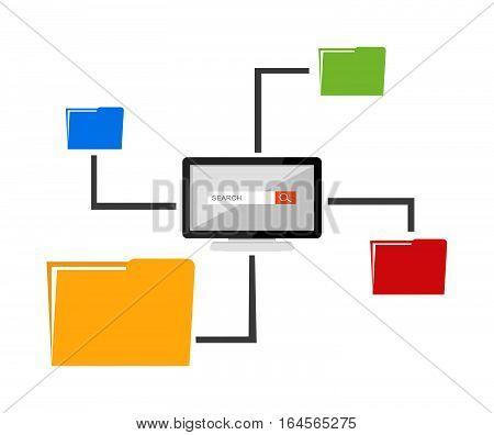 File sharing concept. Files management. Data storage management