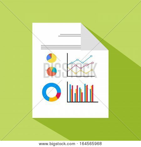 Business documents icons. business report. Business Spreadsheet