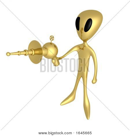 Alien With Lasergun