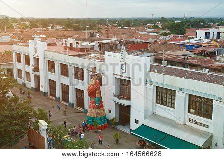 Leon Nicaragua - January 4 2017:Central square in Leon city