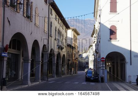 The Old District Of Serravalle, One Of The Two Old Village Forming The Town Vittorio Veneto