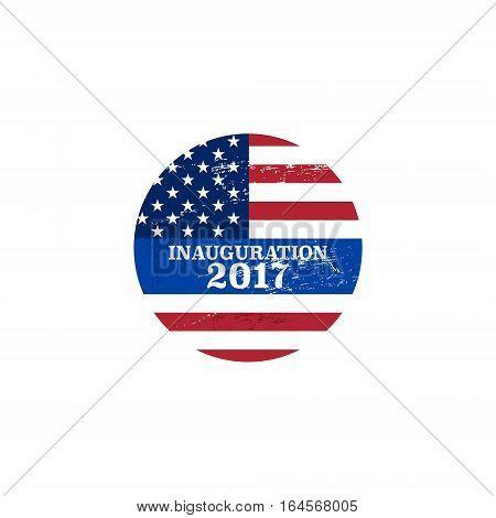 Vector presidential inauguration 2017 icon. Design element
