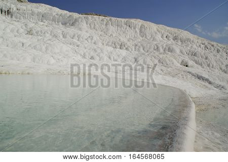 The Calcium Carbonate Terraced Water Pools Of Pamukkale, The