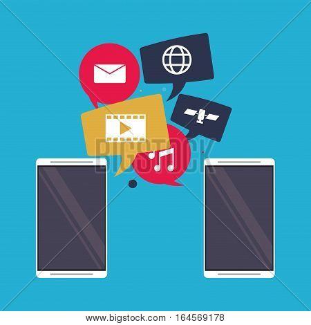 mobile applications sharing social media interface vector illustration eps 10
