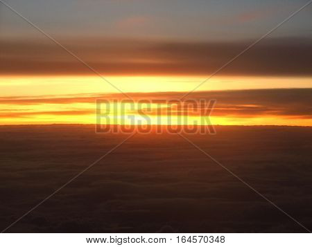 sun rise in the morning on cloud