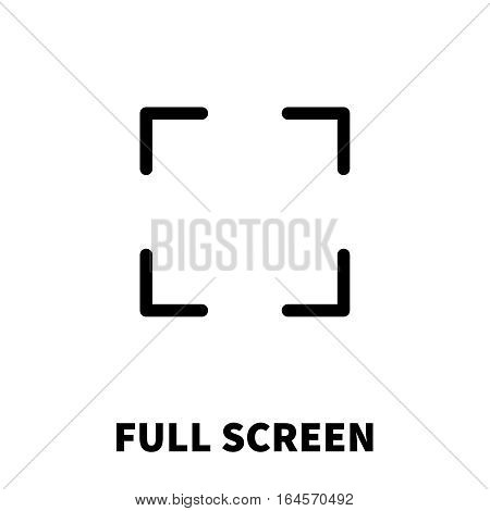 Full screen icon or logo in modern line style. High quality black outline pictogram for web site design and mobile apps. Vector illustration on a white background.