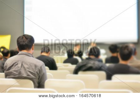 People training at the conference room blur background with copy space on white screen,people learning and development