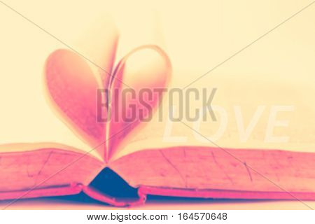 Love. Valentine day background. Retro vintage filter effect.