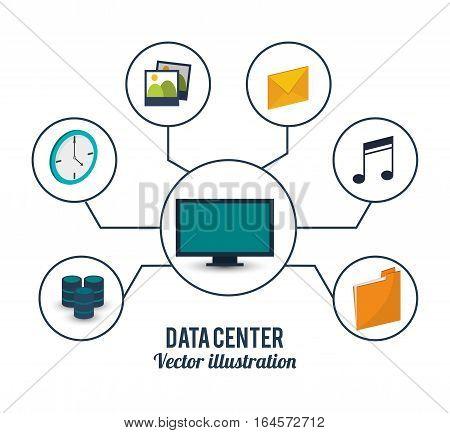 data center computer service storage vector illustration eps 10