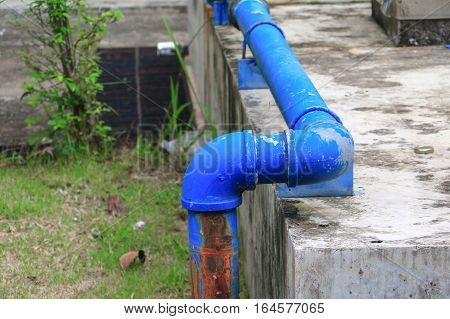 joint pipe industrial plumbing tap water old