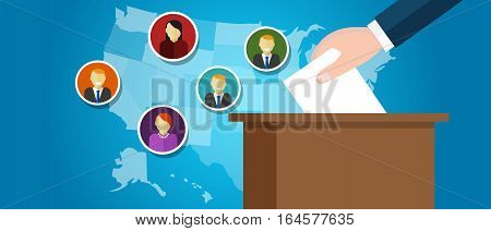 electoral college USA politics representative senator vector illustration