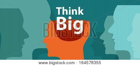 think big inspiration idea illustration creative motivation vector innovation imagination vector