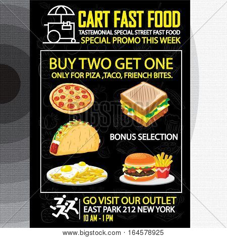 FASTFOOD PROMO POSTER, This design is suitable for a brochure, banner or poster