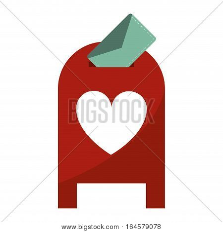love mail post box message valentine vector illsutration eps 10
