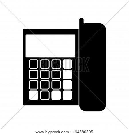 silhouette telephone communication call office vector illustration eps 10