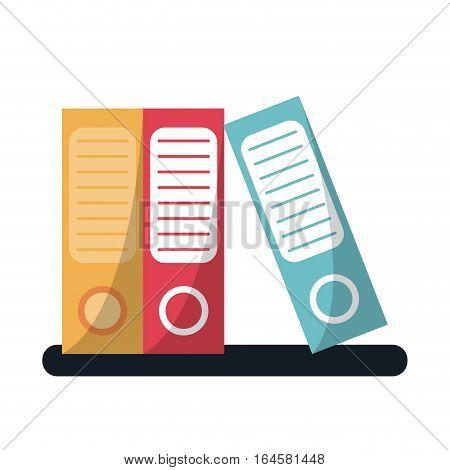 folder document archive folio office vector illustration eps 10