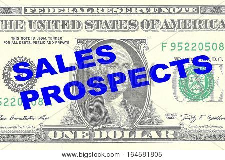 Sales Prospects - Financial Concept