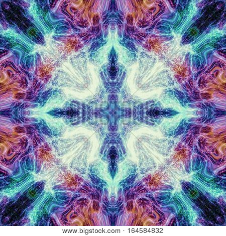 Vivid colored mystic bright detailed passion lively square image