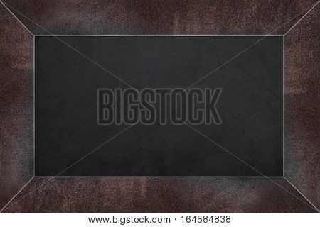 Rusty steel frame menu board , blackboard