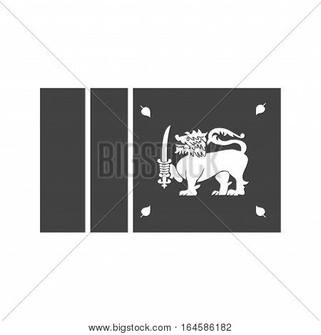 Sri Lanka, flag, national icon vector image. Can also be used for flags. Suitable for web apps, mobile apps and print media.