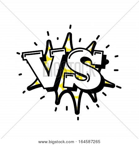 Versus Letters Or Vs Logo Vector Emblems On Explosion Shape