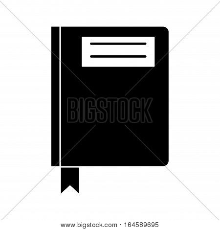 silhouette book diary directory office vector illustration eps 10