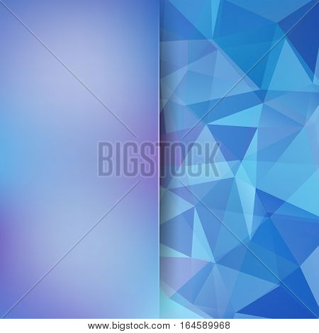 Abstract Background Consisting Of Blue Triangles. Geometric Design For Business Presentations Or Web