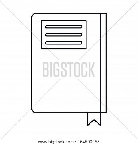 book diary directory office outline vector illustration eps 10