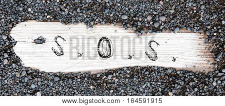 Sand On Planked Wood - Sos
