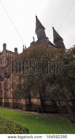 Chester Cathedral In Chester - Vertical