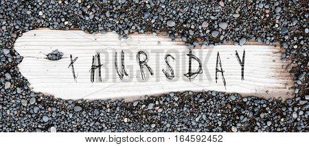 Sand On Planked Wood - Thursday