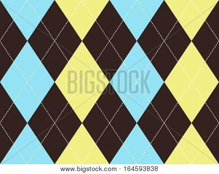 Brown argyle seamless pattern. Flat design. Vector illustration.