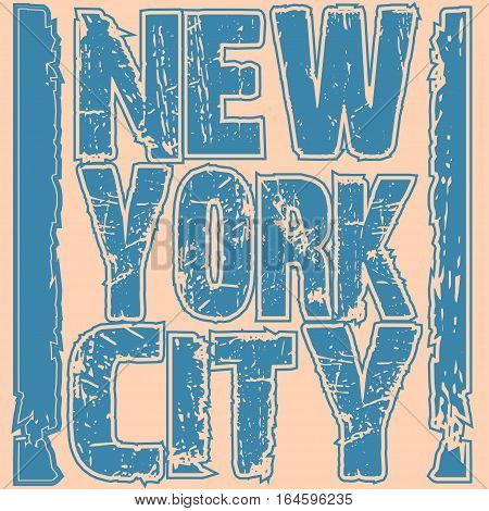 New york city typography, t-shirt graphics. Vector illustration