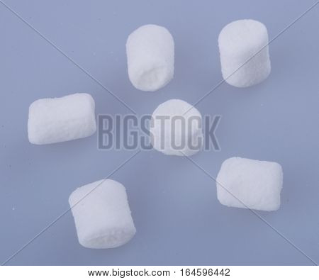 marshmallows or mini marshmallows on the background