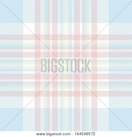 Pastel color check fabric texture seamless pattern. Vector illustration. Flat design. EPS10.