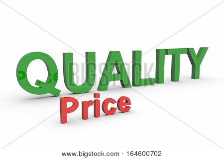 high quality low price white background 3d illustration
