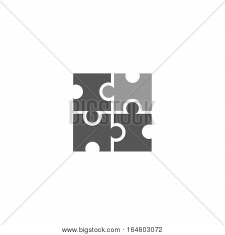 Puzzle like marketing icon isolated on a white backgorund.