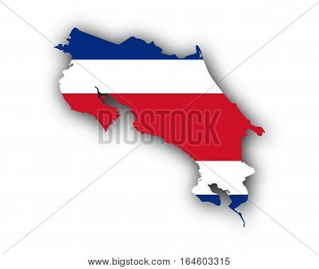 Map And Flag Of Costa Rica