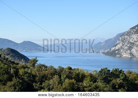 Lake Iseo between Brescia pre-Alps - Lombardy - Italy