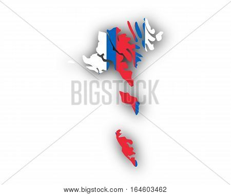 Map And Flag Of The Faroe Islands