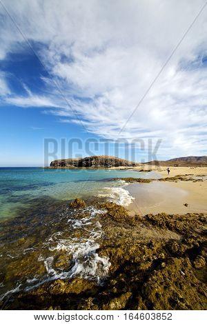 Wate Lanzarote Coastline   Pond  Rock Stone Sky   Musk   Summer