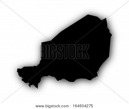Map Of Niger With Shadow