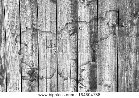 Map Of Slovenia On Weathered Wood
